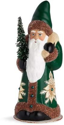 Harrods Beaded Santa with Christmas Tree Decoration