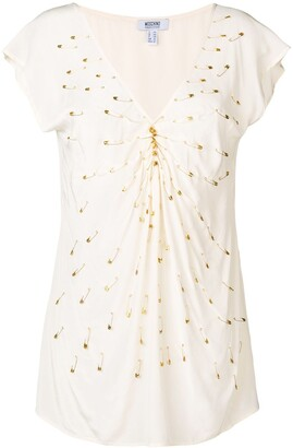 Moschino Pre-Owned 2000's pin embellished blouse