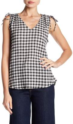 Michael Stars V-Neck Gingham Tank
