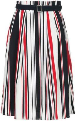 GUILD PRIME (ギルド プライム) - Guild Prime striped belted skirt