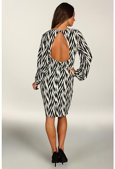 Winter Kate Silk Crepe Herringbone Dress