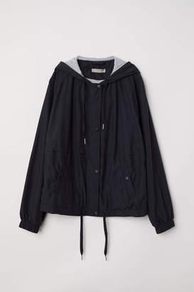 H&M H & M+ Hooded Jacket - Black - Women