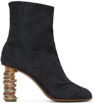 Vetements Black Geisha Coin Ankle Boots