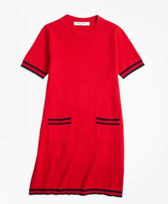 Brooks Brothers Girls Cotton Cap Sleeve Sweater Dress