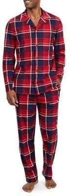 Nautica Two-Piece Fleece Plaid Pajama Set