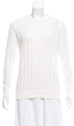 The Kooples Open Knit Long Sleeve Top
