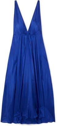 Kalita - Clemence Gathered Silk-habotai Maxi Dress - Royal blue