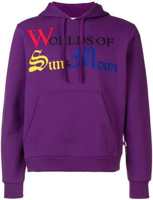 Walter Van Beirendonck Sun & Moon embroidered hoodie