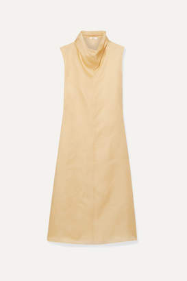 The Row Virginia Silk-organza Maxi Dress - Beige