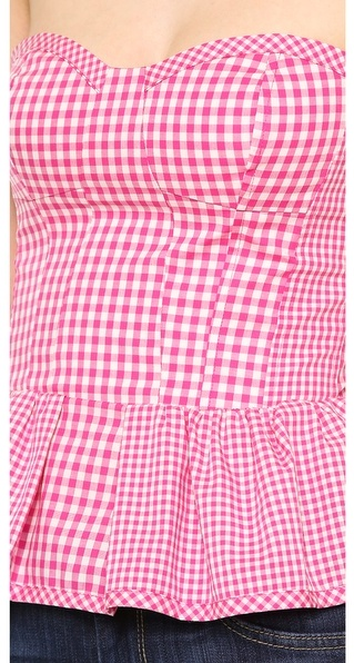 Juicy Couture Mixed Gingham Bustier
