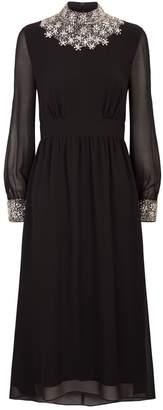 Sandro Embellished Maxi Dress