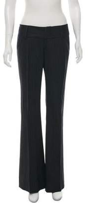 Alice + Olivia Stripe Low-Rise Wide Pants