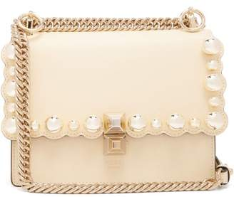 Fendi Kan I Scallop Edge Shoulder Bag - Womens - Light Yellow