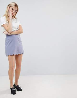 Asos Tailored A-Line Mini Skirt with Scallop Hem
