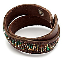 Lucky Brand Green Multi Seed Bead Bracelet
