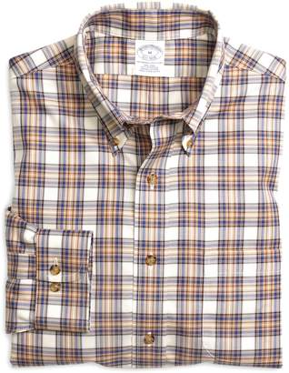 Brooks Brothers Non-Iron Slim Fit Plaid Check Sport Shirt