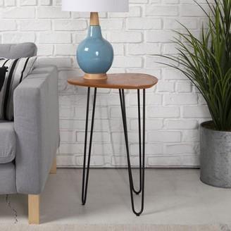 "Manor Park Mid-Century 18"" Hairpin Leg Wood Side Table - Walnut"
