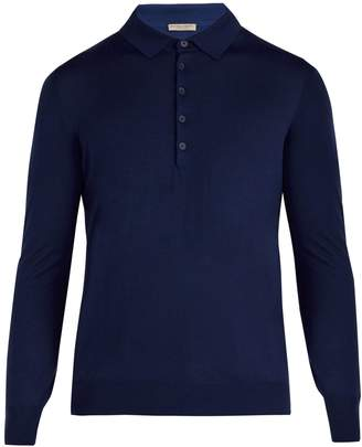 Bottega Veneta Long-sleeved wool polo shirt