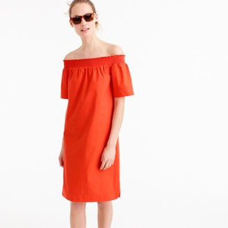 Off-the-shoulder dress in cotton poplin $118 thestylecure.com