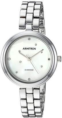 Armitron Women's 75/5541MPSV Diamond-Accented -Tone Bracelet Watch