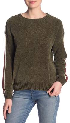 Vintage Havana Stripe Sleeve Chenille Sweater