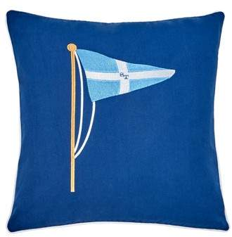 Southern Tide Yacht Club Embroidered Accent Pillow