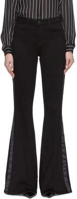 L'Agence 'Solana' tuxedo stripe flared velveteen pants
