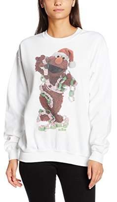 Sesame Street Women's 66.elmo Xmas Decor Plain Long Sleeve Sweatshirt,(Manufacturer Size:Medium)