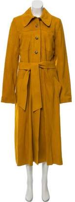 Land of Distraction Long Suede Coat w/ Tags