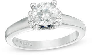 Zales Vera Wang Love Collection 1-1/10 CT. T.W. Diamond Solitaire Collar Engagement Ring in 14K White Gold