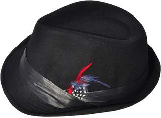 Simplicity Unisex Structured Gangster Trilby Wool Fedora Hat