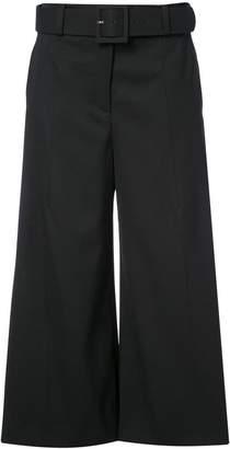 Oscar de la Renta belted high-waisted culottes