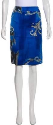 Versace Printed Knee-Length Skirt