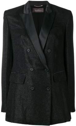 Max Mara double breasted lurex blazer