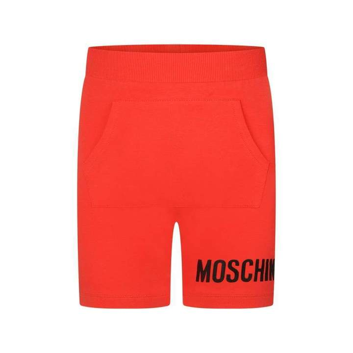 MoschinoBoys Red Fleece Shorts