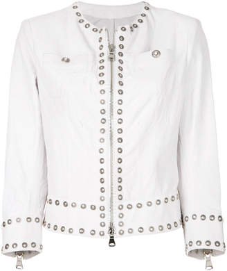 Sylvie Schimmel slim-fit studded jacket