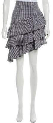 Intermix Gingham Knee-Length Skirt