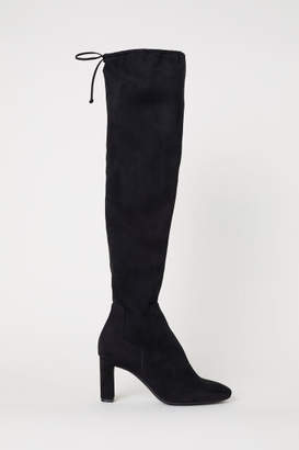 H&M Thigh-high Boots - Black
