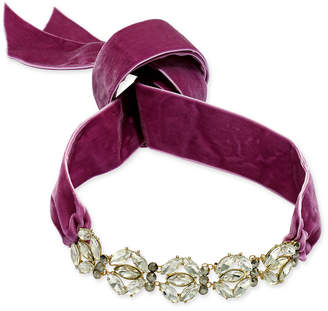 INC International Concepts I.n.c. Gold-Tone Large Crystal Cluster Wide Ribbon Choker Necklace, Created for Macy's