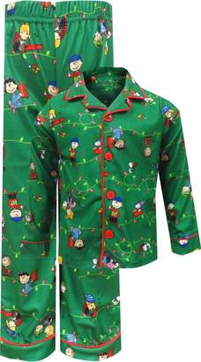 Peanuts Charlie Brown Christmas Traditional Toddler Pajama for Little Boys