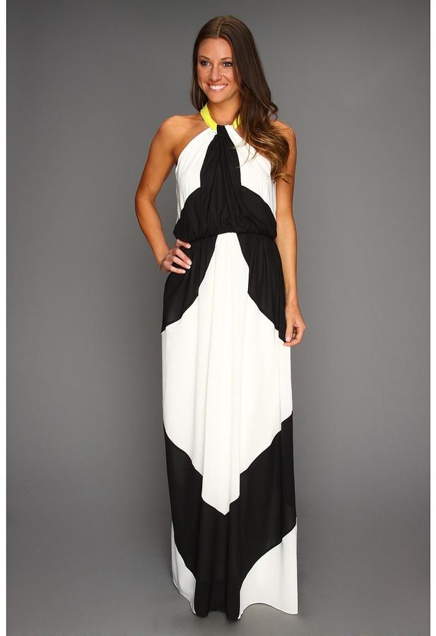 Vince Camuto Colorblock Maxi Dress (Black Multi) - Apparel