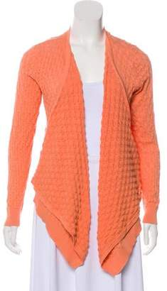 Magaschoni Long Sleeve Open Knit Cardigan