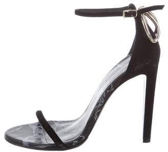 Balenciaga Suede Ankle-Strap Sandals