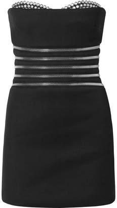 Alexander Wang Embellished Stretch-crepe Mini Dress