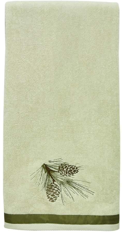 Pinecone Silhouette Bath Towel