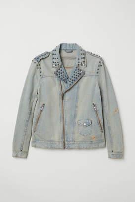H&M Denim Jacket with Studs - Blue