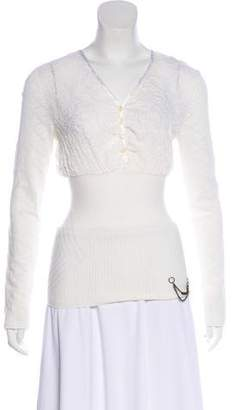 Just Cavalli Burnout Knit Top