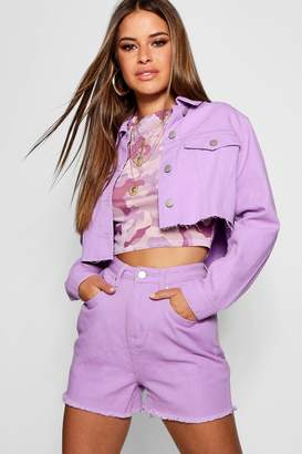 boohoo Petite Cropped Trucker Jacket