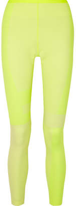 Nike Tech Pack 2.0 Neon Mesh-paneled Stretch Leggings - Bright yellow