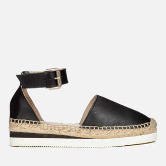 bcc8a479eda2 at Allsole · See by Chloe Women s Leather Espadrille Flat Sandals - Black